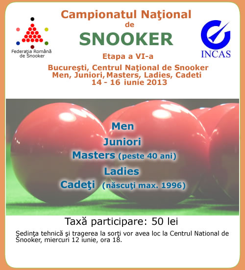 Campionatul National de Snooker 2013