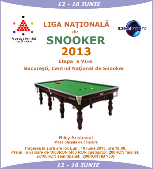 Liga Nationala de Snooker 2013